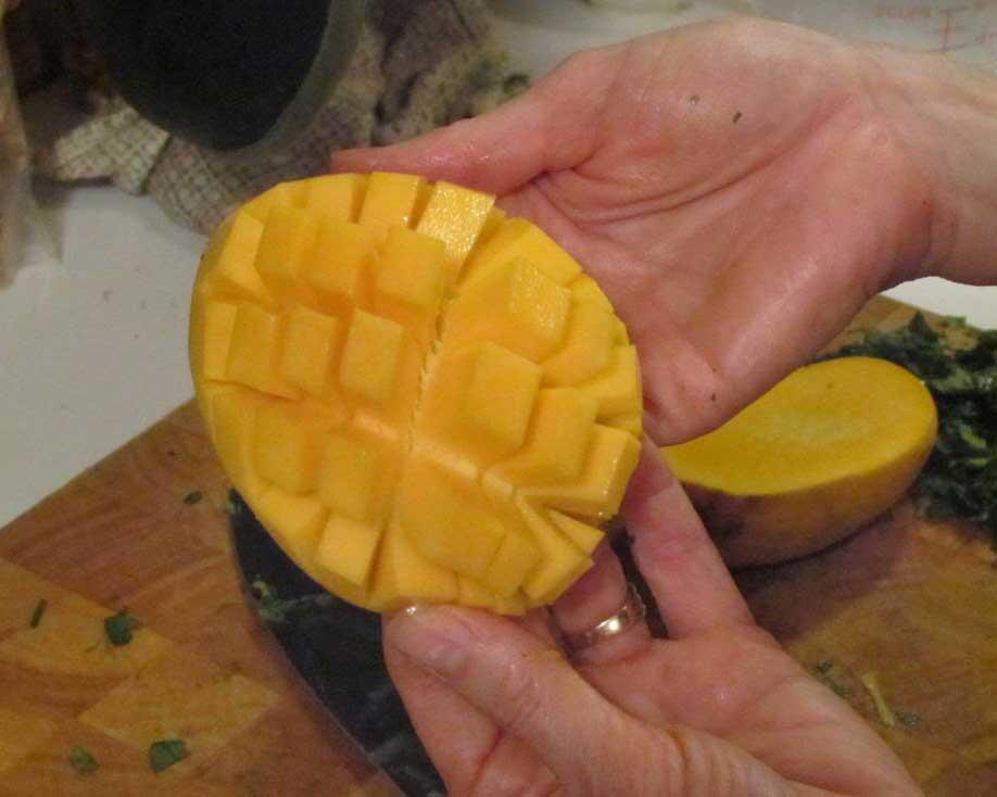 How to Slice A Mango, Step Four