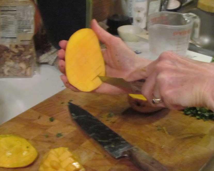 How to Slice A Mango, Step Three