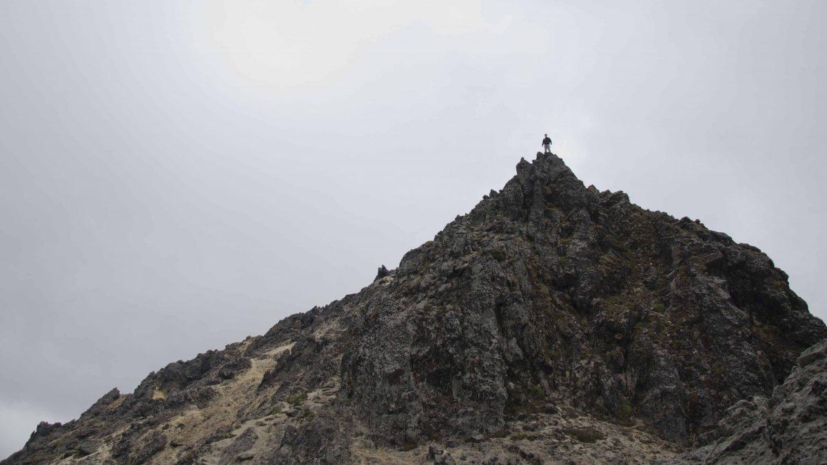 View from the a high point on the trail; Hiking Pichincha Rucu, Quito, Ecuador | ©Angela Drake