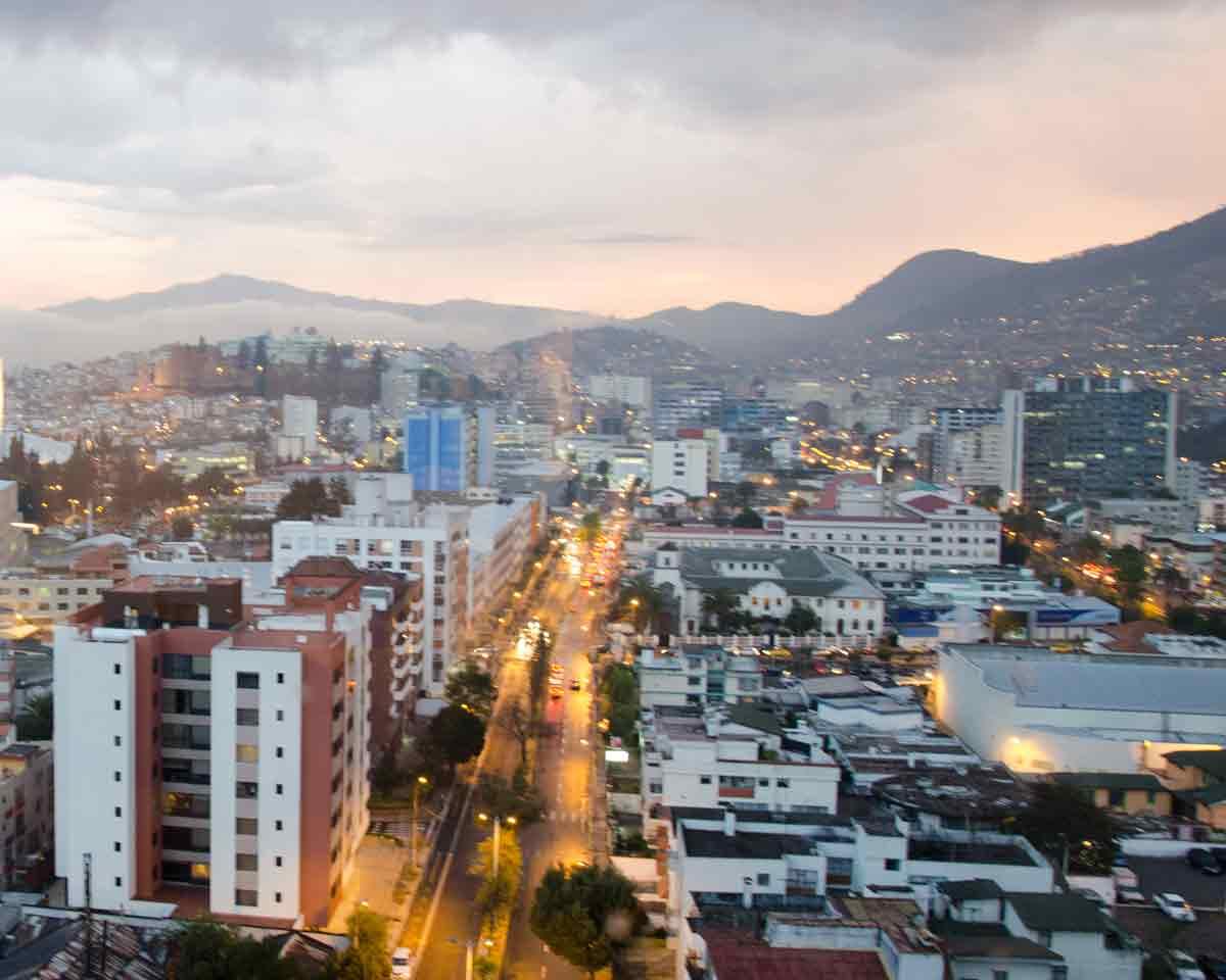 Quito, Ecuador in the early morning   ©Angela Drake