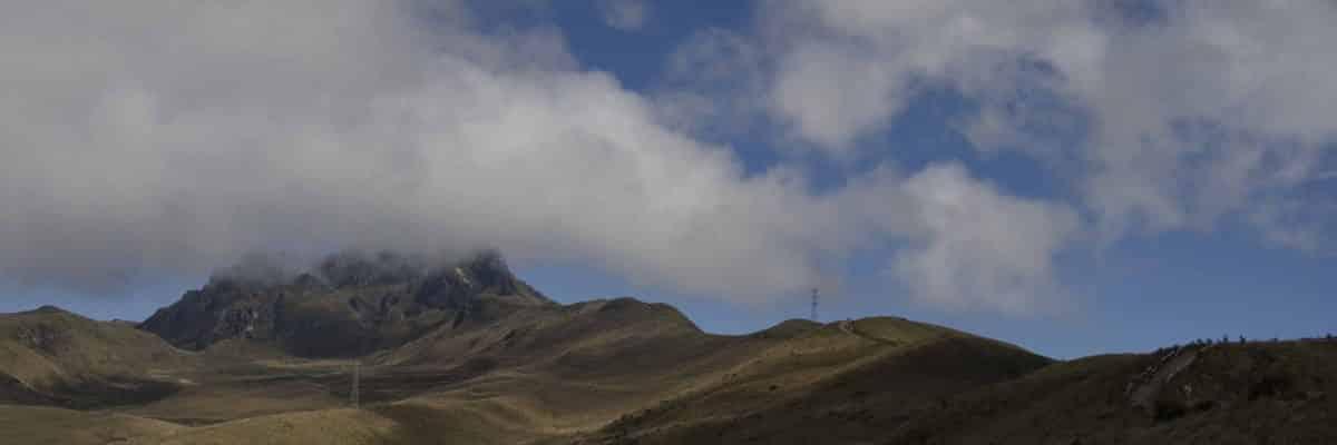 Pichincha from the Teleferico, Quito, Ecuador
