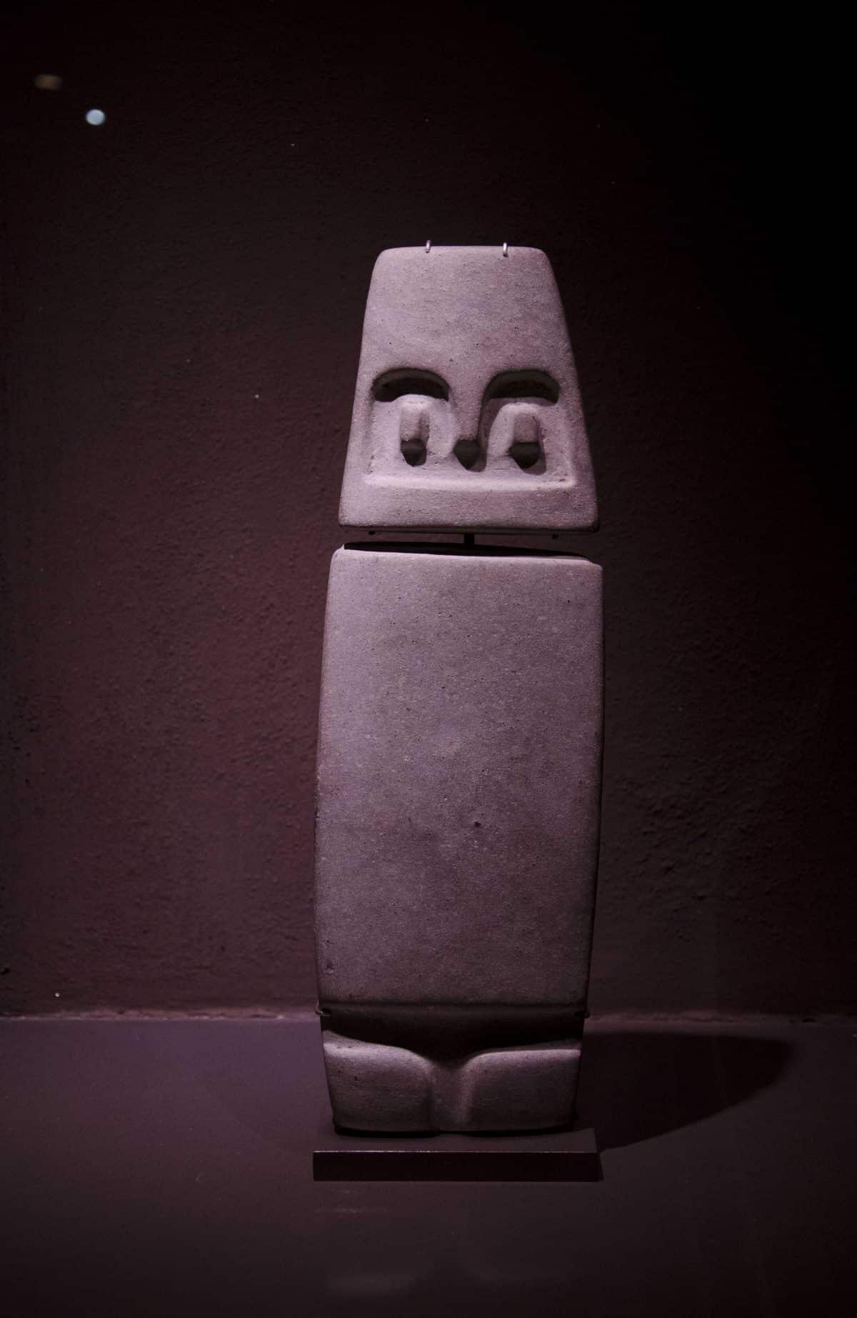 Monolith from Valdivia (4000-1500 BCE); Casa Alabado, Quito, Ecuador   ©Angela Drake