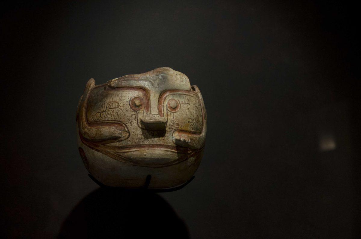 Pottery in the form of a Jaguar; Cultura Napo (1200 – 1600 AD); Casa del Alabado, Quito, Ecuador