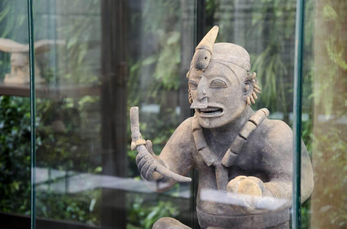 Ancient Pottery Statue, Casa Alabado, Quito, Ecuador   ©Angela Drake