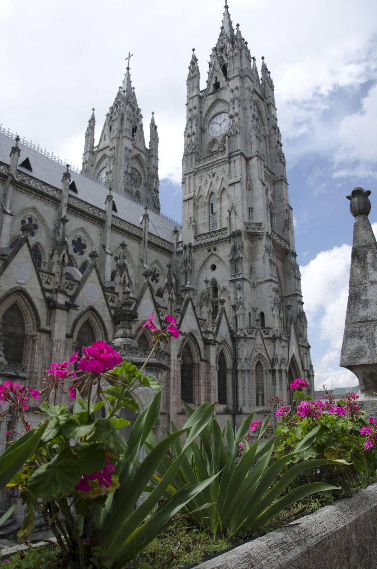 The exterior of the Quito Basilica | ©Angela Drake