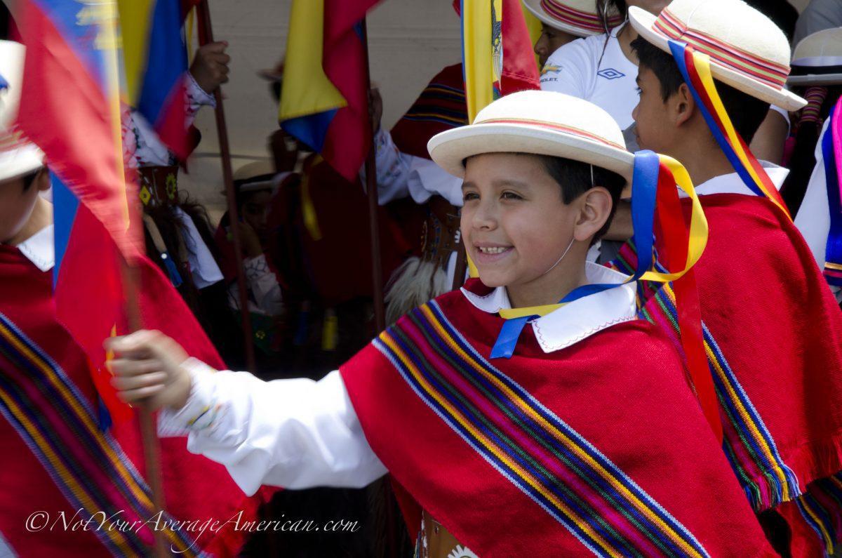 A Proud Ecuadorian school child, Palm Sunday, Quito | ©Angela Drake
