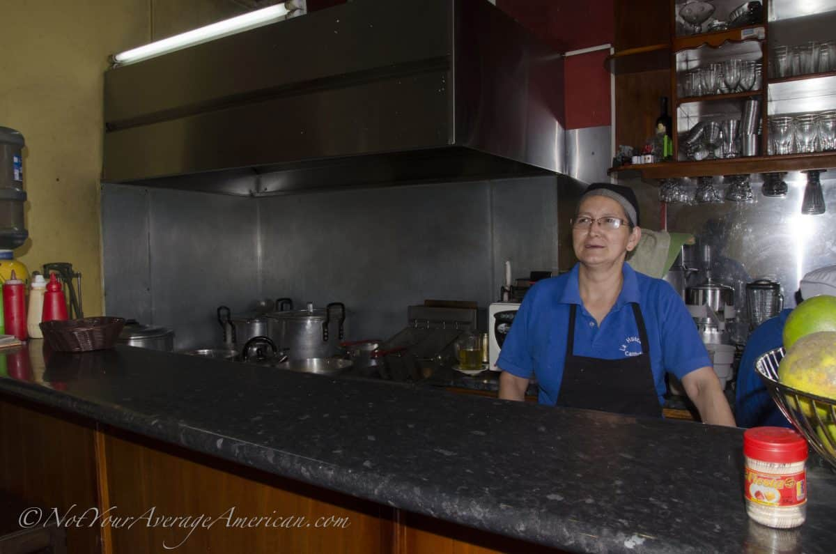 The chef and her immaculate kitchen   ©Angela Drake