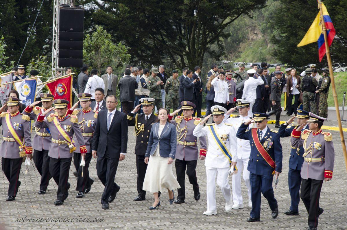 The entrance of the official party; Cima de la Libertad, Quito, Ecuador   ©Angela Drake