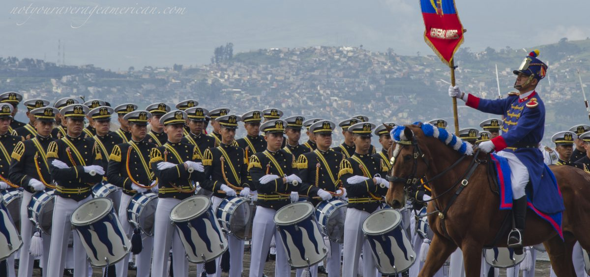 May 25th Military Parade, Cima de la Libertad, Quito, Ecuador   ©Angela Drake