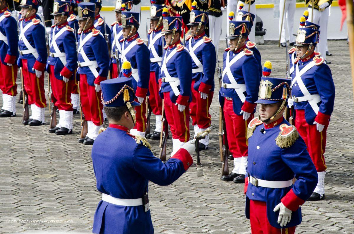 Changing of the guard; Cima de la Libertad, Quito, Ecuador   ©Angela Drake