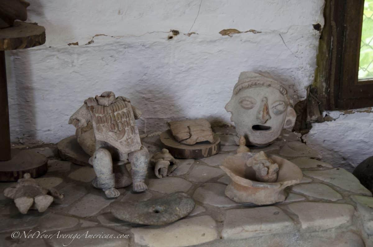 Various figures found in the Chirije Museum, Manabi, Ecuador