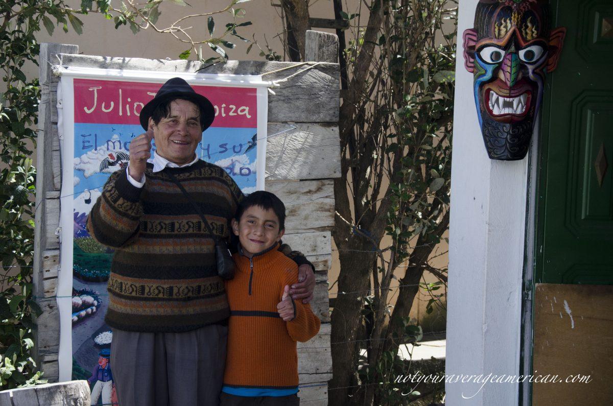 Julio Toaquiza and his grandson, Danny.
