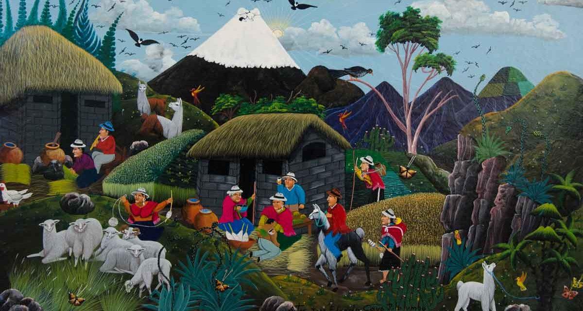 Folk Art from Tigua, Ecuador