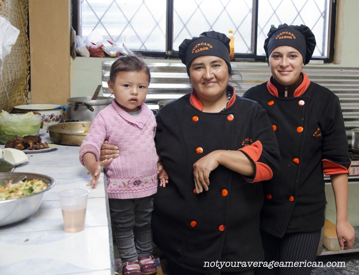 Our Concineras at Cuencana Sabor (with chef in training) | ©Angela Drake
