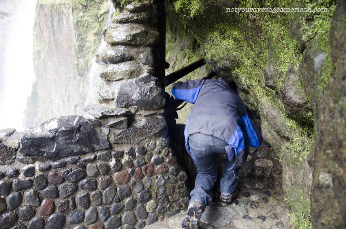 The beginning of the Cave Trail, The Pailón del Diablo, Baños, Ecuador