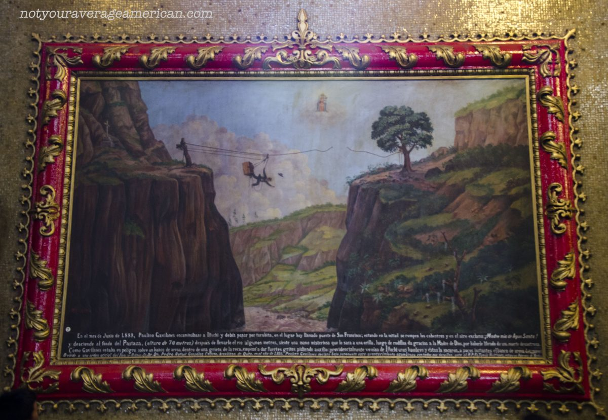 One of many murals inside the Basilica that tells part of the story of the miracles of the Virgin Mary.