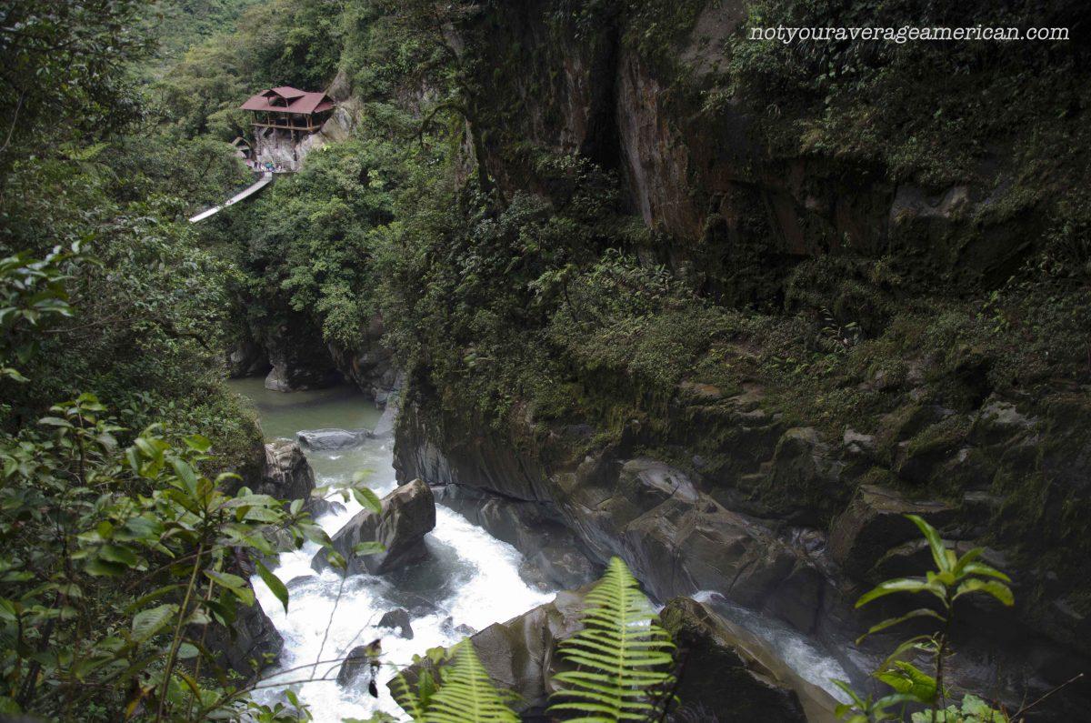 An excellent view point, The Pailón del Diablo, Baños, Ecuador