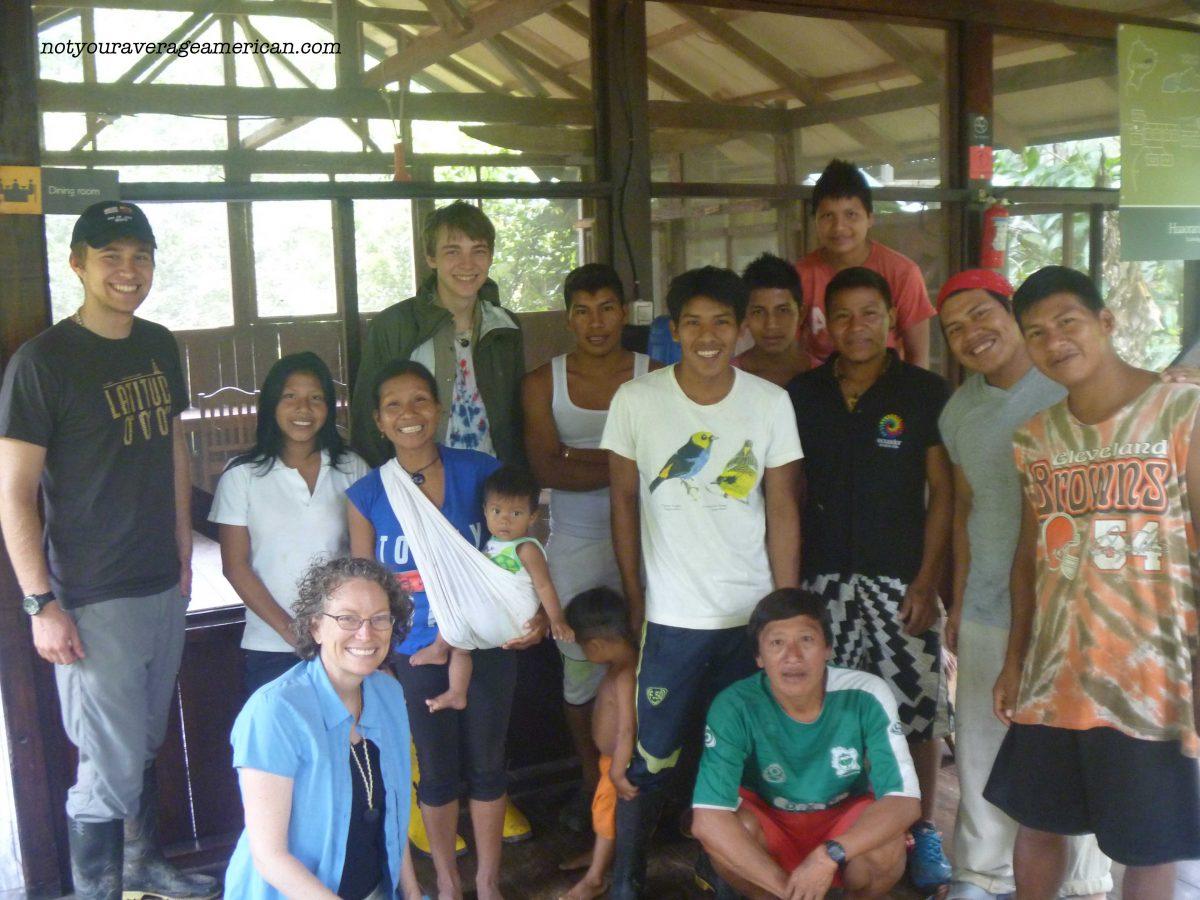 The Crew, Huaorani Lodge, Ecuador | ©Angela Drake