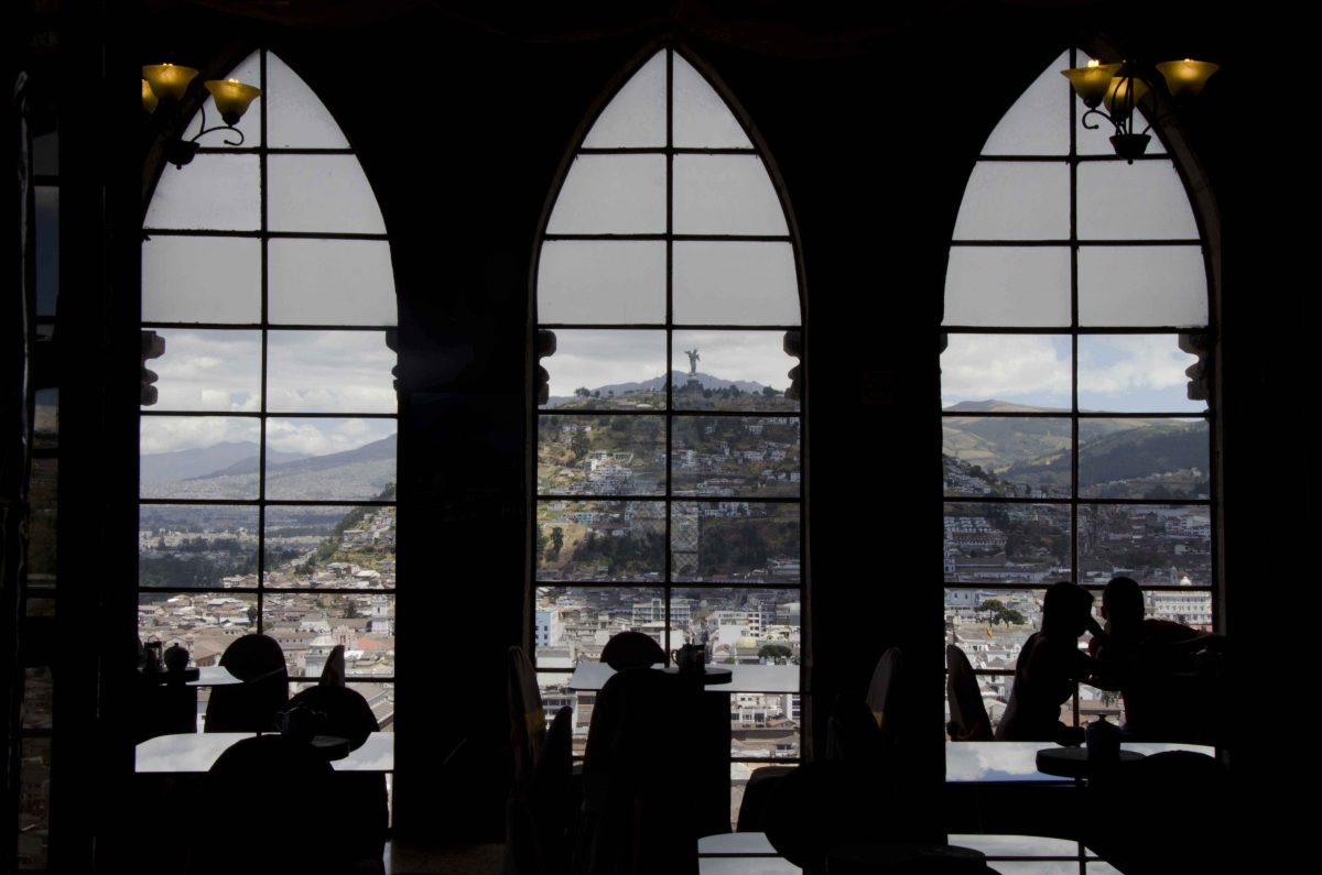 This is the cafe, a room with a view | ©Angela Drake