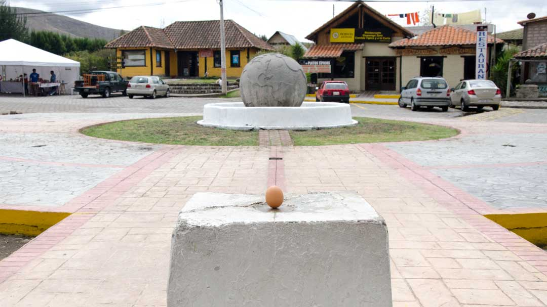 A Balanced Egg at the authentic Mitad del Mundo; Buena Esperanza, Cayambe, Ecuador | ©Angela Drake