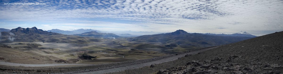 View from the Refugio Parking Lot, Cotopaxi National Park, Ecuador