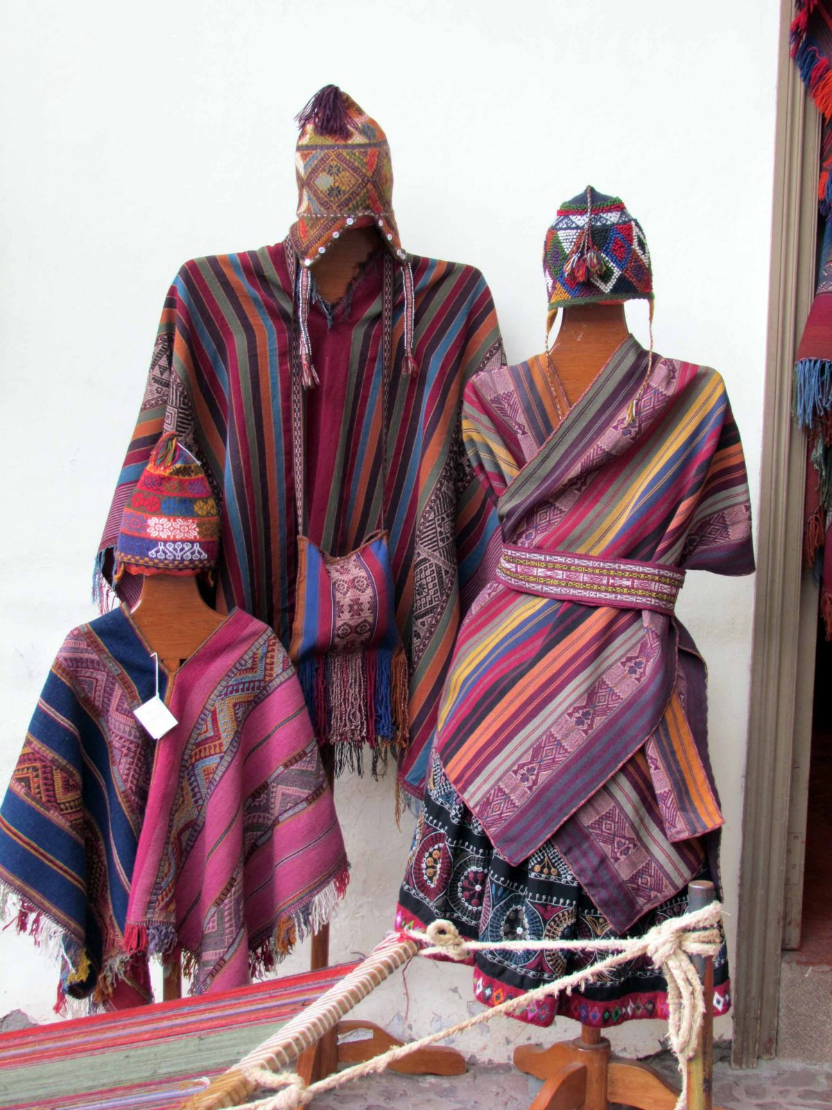 Samples of work for sale; The Center for Traditional Textiles of Cusco, Peru   ©Angela Drake