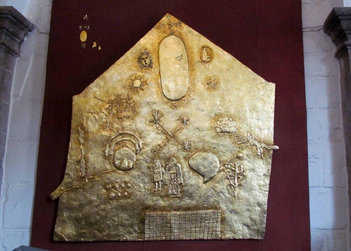 Replica of Incan plaque found at the Convent of Santo Domingo; Cusco, Peru | ©Angela Drake