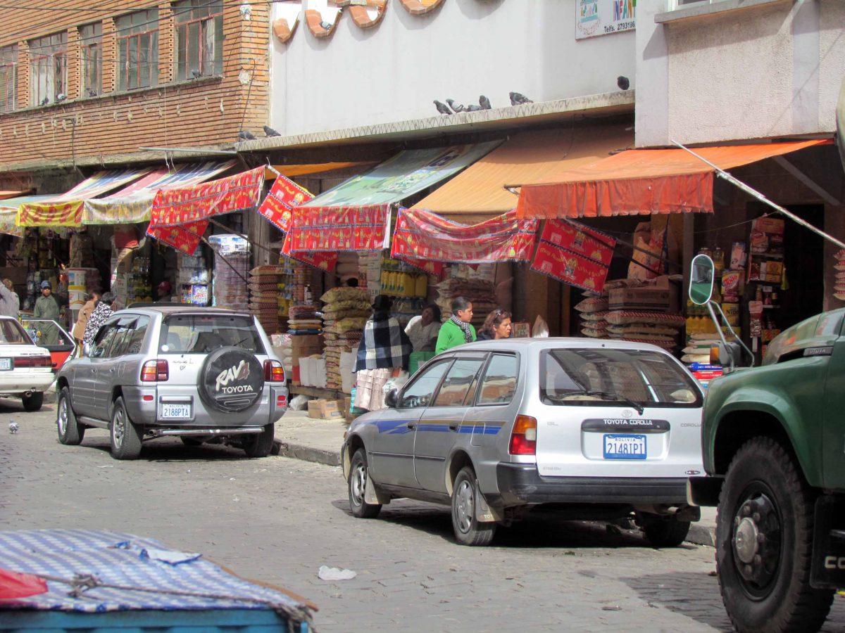 Downtown market in La Paz, Bolivia | ©Angela Drake