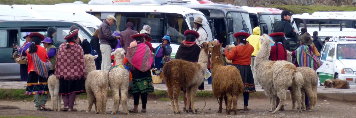 Locals Posing for Picture at Sacsayhuamán | ©Angela Drake
