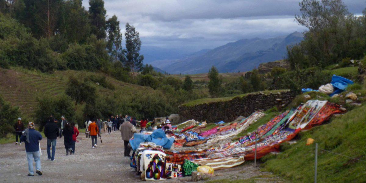 Vendors at Tambomachay, Cusco, Peru | ©Angela Drake