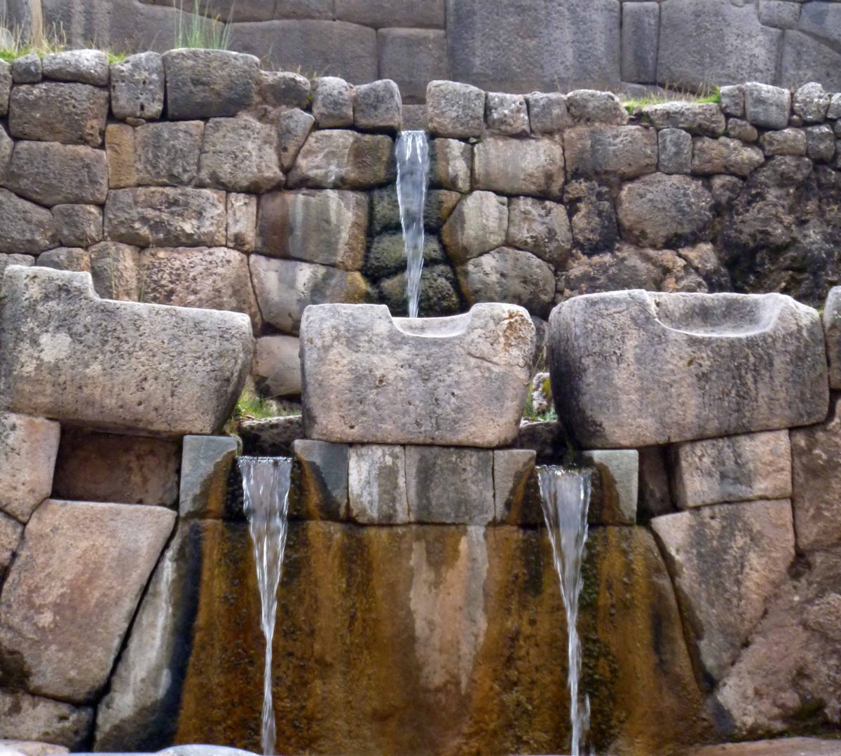Fountains at Tambomachay, Cusco, Peru | ©Angela Drake