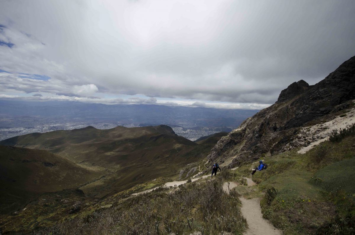 While heading back down the trail we saw people resting on their way up. Rucu Pichincha, Quito, Ecuador | ©Angela Drake