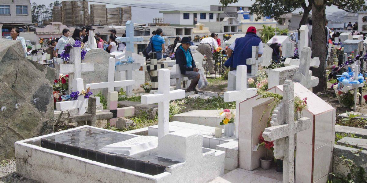 Contemplation in the Cemetery, Calderón, Quito,  Ecuador   ©Angela Drake