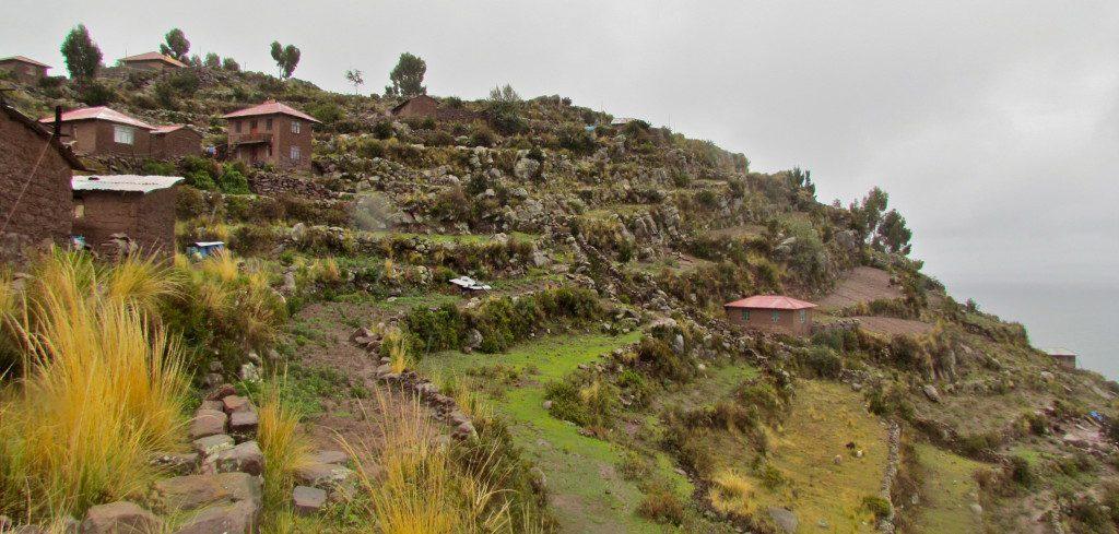 The terraced farmland of Taquile
