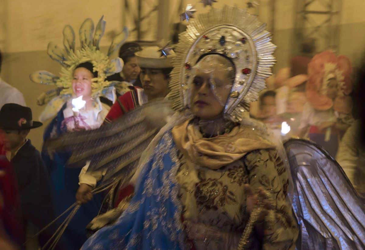 The Virgin of Quito, Procesión de Luz, Holy Thursday, Quito; 2015 | ©Angela Drake