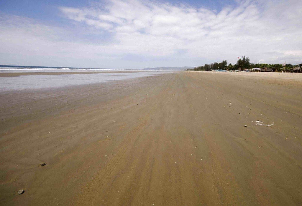 The long, wide beach