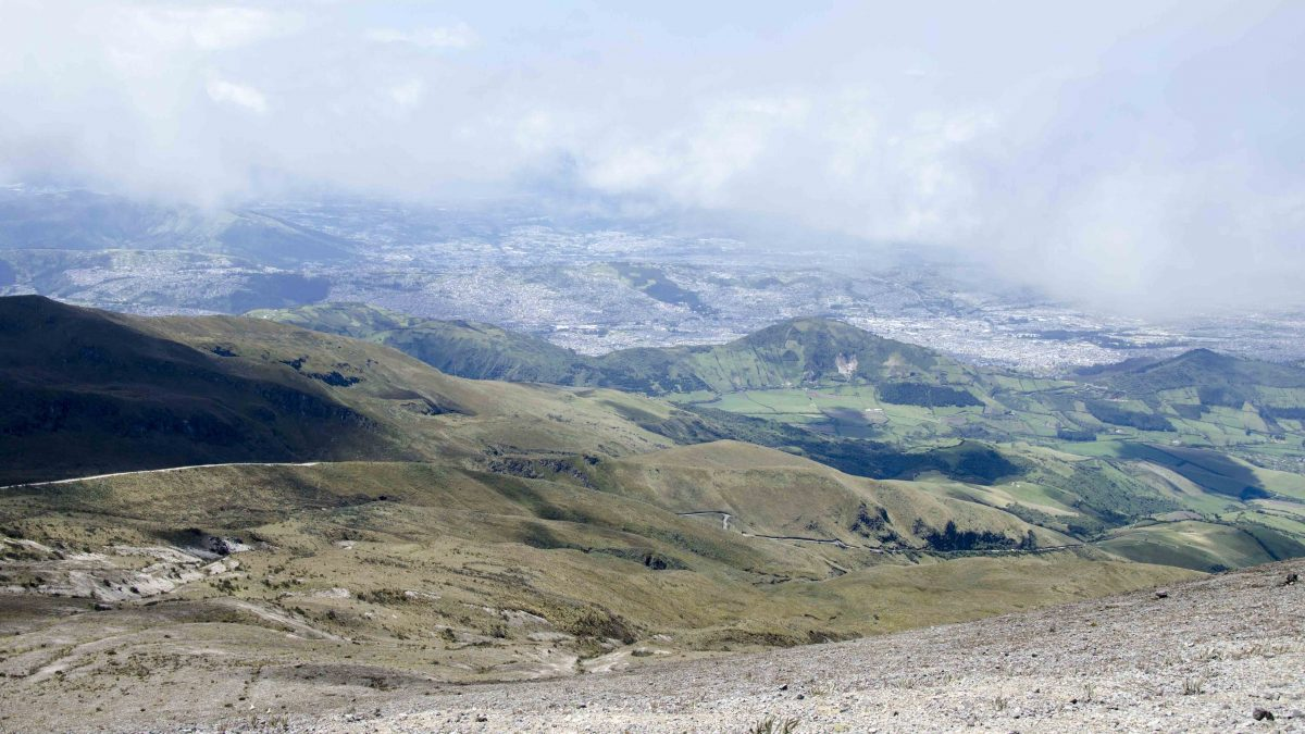 Paramo, LLoa, & Quito from the Refugio of Guagua Pichincha