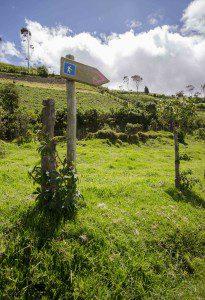 Sign post for Hikers, Road to Refugio of Guagua Pichincha