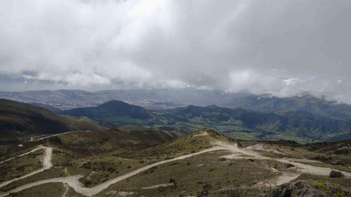Final dirt roads, Refugio of Guagua Pichincha, Ecuador
