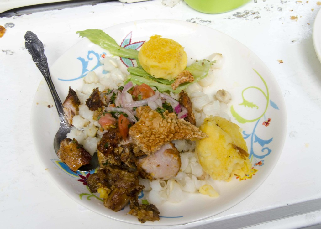 A Plate Full of Hornado and Fixings