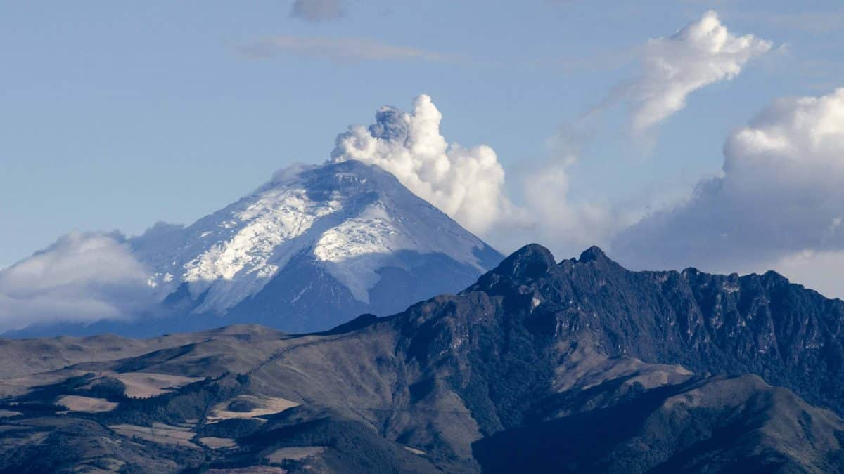 The Volcano Cotopaxi on Tuesday, August 18 in the late afternoon.