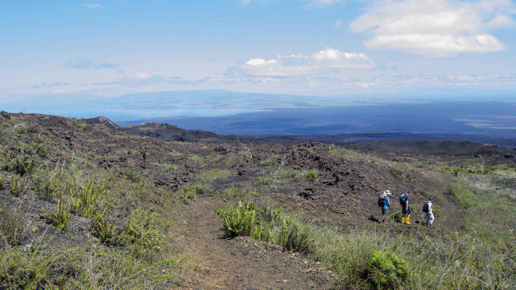 Hiking Down the Slope of Sierra Negra