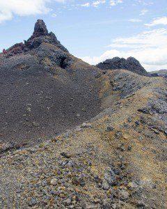 Ochre rock on the trail
