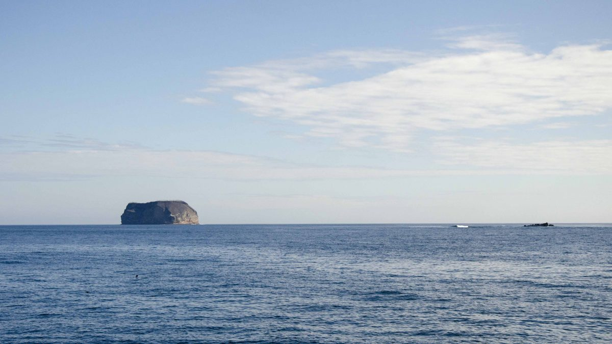 A Daphne, one of two islands just off the coast of Santa Cruz, the Galapagos.