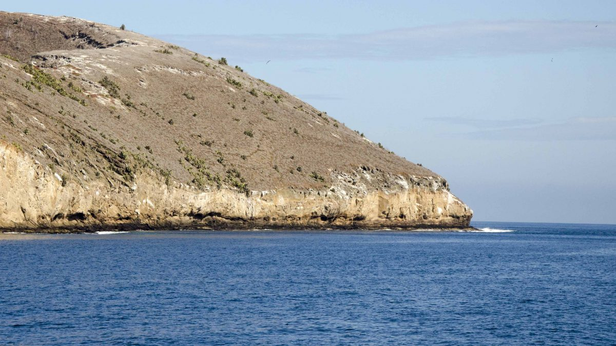 Greater Daphne Island, off the coast of Santa Cruz Island, the Galapagos.