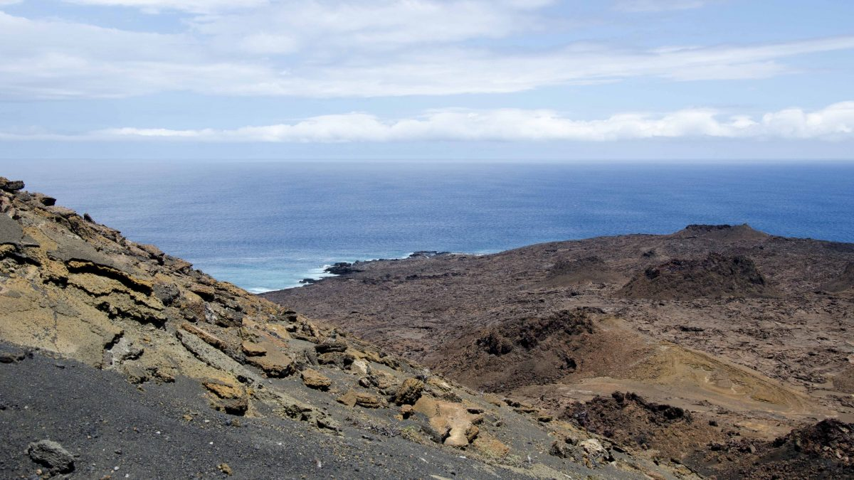 Volcanic Landscape, Bartolome Island, the Galapagos.