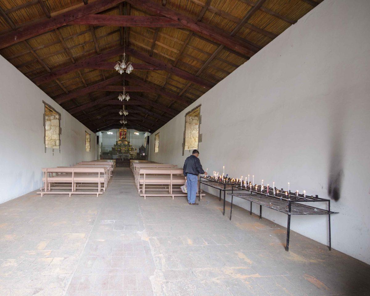 Inside the Iglesia de Balbanera, locals still use the church for services, Colta | © Angela Drake