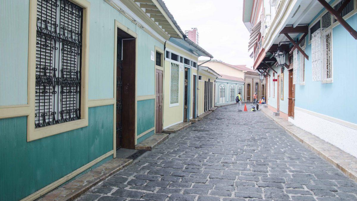 A Street on Las Peñas, Guayaquil, Ecuador