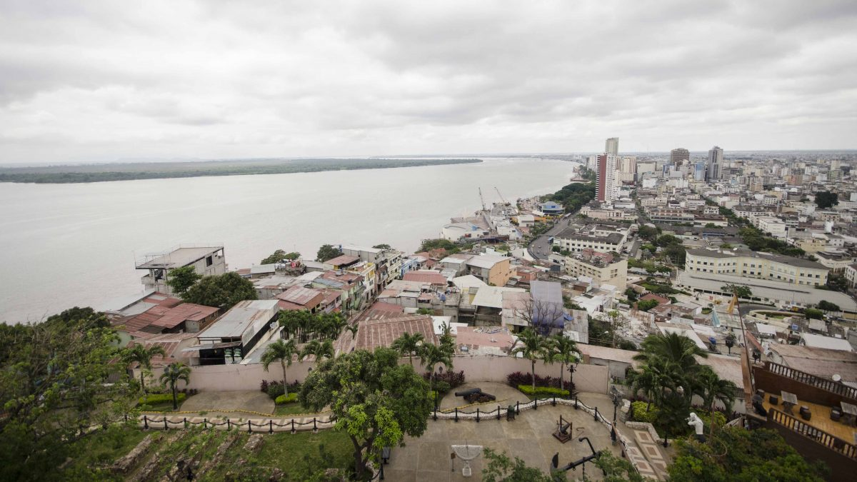 View of the Rio Guayas, Cerro Santa Ana, Guayaquil, Ecuador