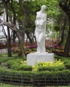 Statue on the Malecon 2000